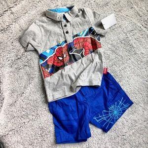 Disney Store Spider-Man Shorts Set